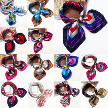 AOMU New Fashion Women Silk Scarf Anklet Cuff Professional 50*50 Small Scarf Neckerchief Original Design Elegant Headscarf