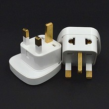 Multifunction white 10A 250V 3 pins CE certified ABS material connector AU EU US to UK travel plug adaptor with security door