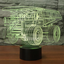 Colorful USB Haul Truck Shape 3D Table Lamp Bedroom Decor LED Child Car Modelling Night Lights Xmas Gifts Lampara Light Fixture(China)
