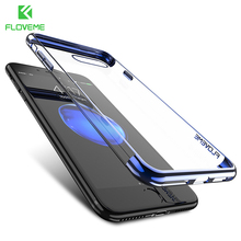 Buy FLOVEME New iPhone 8 Case Luxury 3D Clear Ultra Thin Silicone Plated TPU Cover iPhone 8 Plus Fitted Case Accessories Bag for $3.49 in AliExpress store