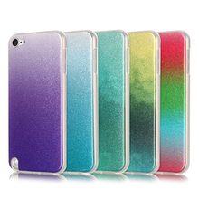 Colourful Luxury Crystal Bling Funda for iPod touch 5 case Back Cover flash glitter Soft Silicone Coque for i touch 6 skin(China)