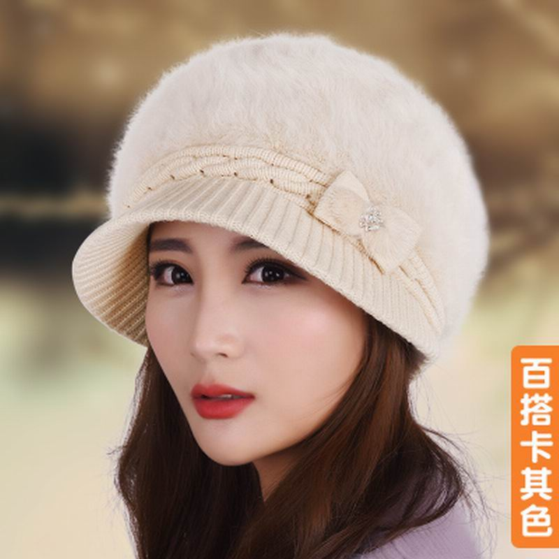 Hat female winter knitted rabbit fur cap hat benn soft knitted beret thermal thickening autumn and winter Одежда и ак�е��уары<br><br><br>Aliexpress