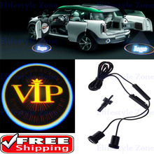 2 x Universal Car  Door Lights LED VIP Car LED Laser Logo Lights Door Welcome Ghost Shadow Projector Courtesy Lights