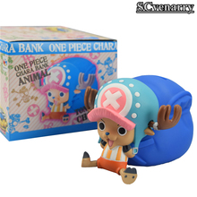 "Anime One Piece Piggy Coin Bank Chopper PVC Figure Collectible Model Toys Children Gift 6.7""17CM Free Shipping(China)"