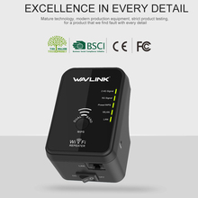 Wavlink N300 Wireless WiFi repeater/Acess point/Client WIFI Range Extender Dual Band wifi Signal amplifier Wi-Fi EU Plug-Black