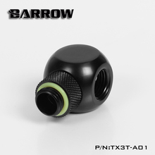 "Barrow G1 / 4 ""X3 Black  silver Extender rotation 3-Way cubic Adaptor seat water cooling computer accessories TX3T-A01"