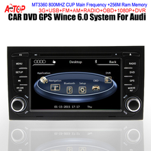 CAR IN DASH DVD GPS Player for Audi A4/S4/RS4 Seat Exeo Sat Navi Navigation Dual Core GPS MTK 3360 800MHz CPU Redio FM AM BT