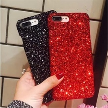 Luxury Bling Glitter Shining Sequins Case For iPhone 6 6S 7 8 Plus Soft TPU Candy Colorful Phone Back Cover For iPhone X(China)