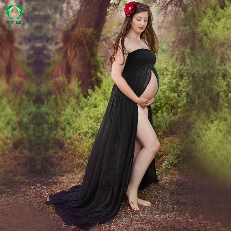 Maternity Photography Props Black Women Elegant Pregnancy Clothes Maternity Dresses For pregnant Photo Shoot Clothing<br>