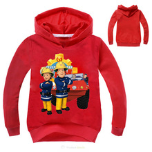 T-shirts Fireman sam clothing long sleeve hoodies kids sweatshirt sam le pompier autumn sweatshirt baby boy tops girls clothes(China)