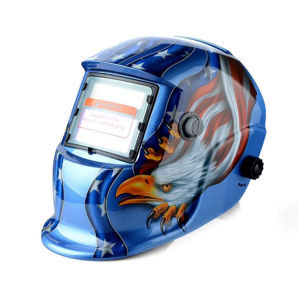 New Adjustable Auto Darkening MIG MMA Electric Welding Mask Helmet Welding Lens For Welding Machine OR Plasma Cutter T0.2<br>