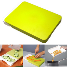Multifunctional Chopping Board Creative 2 in 1 Cutting Board with Food Storage Box Basket for Receiving Fruits and Vegetables(China)