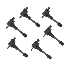 Set of 6pcs Ignition Coil for Nissan Patrol GU 2001-2007 TB48DE 6 Cyl 4.8L Pack over Plug 22448AR215 22448AR210