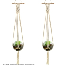 WITUSE Free Shipping! 2PCS Vintage Knotted Plant Hanger Basket Flowerpot Holder Macrame Lifting Rope Garden Home Decor Display(China)