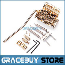 Electric Guitar Tremolo Bridge Systems Gold Floyd Rose Double Locking Edge With Whammy Bar New