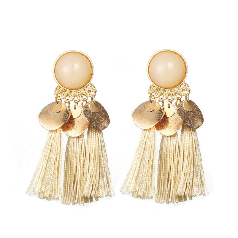 2018 Trendry Earrings for Women Bohemian Fashion Weave Tassel Earrings Long Drop Earrings Jewelry for gift Brincos J05#N (6)