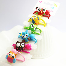 New Arrival Headwear Cute Owl Hair Bands Candy Color High Elastic Hair Bands Rubber Tie Resin Women Girls Gift Hair Accessories