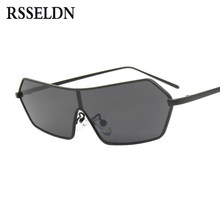 06963c95878c6 RSSELDN 2019 Hot Selling Rectangle Sunglasses Women Metal Frame Small  Square Sun Glasses For Female Conjoined Lens Shades UV400