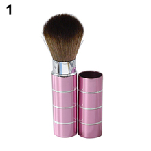Portable Retractable Handle Makeup Brush Cosmetic Pro Powder Blush Brushes Make Up Tools Beauty ACQF