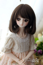 New 16-17cm,17-19cm,22-25cm Selling of pear flower curl For BJD 1/3 1/4 1/6 Doll Wig HW27(China)