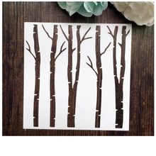 Tree Scrapbooking tool DIY album masking spray painted template drawing stencil laser cut template AP7050259(China)