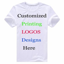 Custom Printing Personalized T-Shirts Designer logo mens Women Children Family Customized t shirt Advertising Cotton tshirt tees(China)