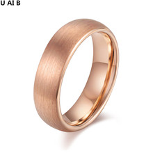 New Fashion Jewelry rose gold color Tungsten Carbide Ring Wedding Engagement Ring for Men and women Full Size 7 8 9 10(China)