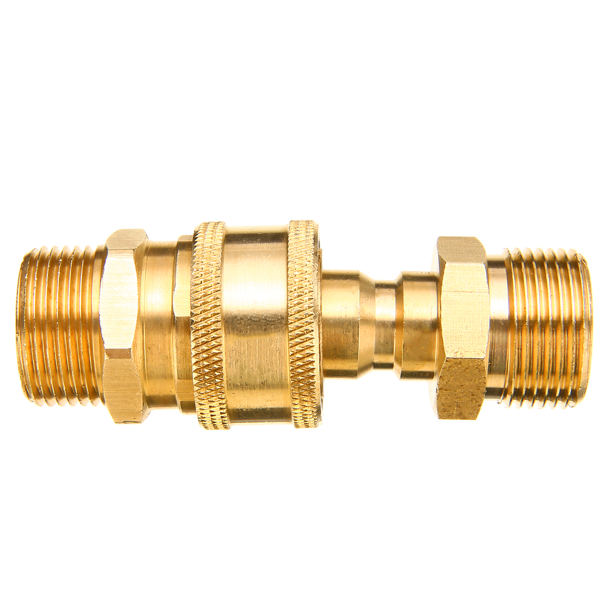 1 Pair Brass 3/8 inch Washer Adapter M22 Quick Release Pressure Washer Connector Adapter Coupling 14.8MM High Qualiyu Mayitr