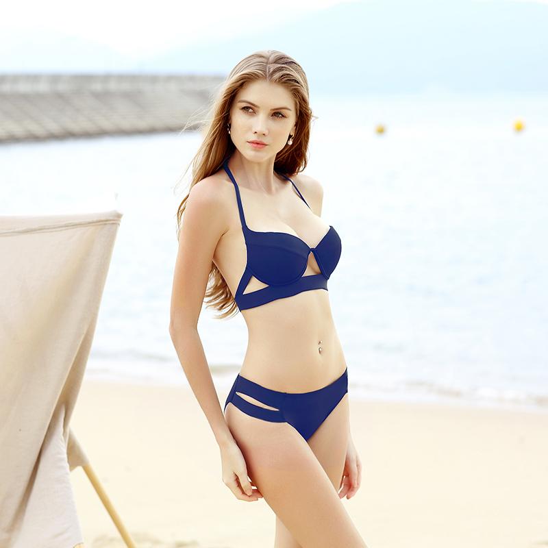 Hot Sale Strappy Bikini 17 Bandage Bikini Sets Push Up Bra Swimsuit Bathing Suit Brazilian Biquini Hollow Out Maillot De Bain 8