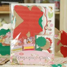 Corrugated Cards Kit Corrugated Butterfly Vintage Bracket Frame Card Tag Gift Message Label(China)