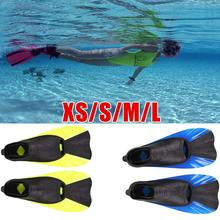 1 pair Summer Swimming Fins High Quality Snorkeling Foot Flipper Diving Fins Swimming Equipment Training Lightweight Portable