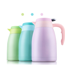 1600ml Thermos Kettle for Home Office Stainless Steel Coffee Pot Insulation Water Bottle Sweet Thermo Mug Vacuum Flask Cup