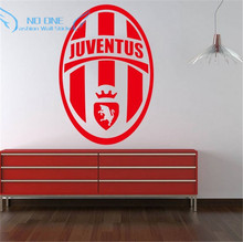 wall art home decoration removable Juventus City football Europe League team logo wall stickers living room bedroom den(China)