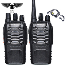 BAOFENG 2pcs Walkie Talkie Radio BaoFeng BF-888S 5W Portable Ham CB Radio Two Way Handheld HF Transceiver Interphone bf-888s(China)