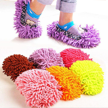 1 pair release foot cleaner shoes 6 colors for mop slipper floor dust clean shoe cover home tools easy use lazy  mop shoes DA