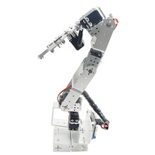 Aluminium Robot 6 DOF Arm Clamp Claw Mount Kit Mechanical Robotic Arm for Arduino Compatible