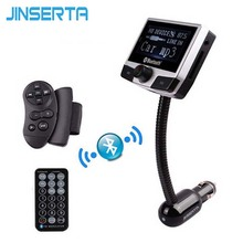 JINSERTA Bluetooth Wireless MP3 Audio Player Handsfree FM Transmitter With USB SD Slot LCD Display Caller ID For iPhone Samsung