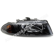Headlights for MITSUBISHI CARISMA 1998 1999 2000 2001 2002 2003 2004 Right Passenger Side - BLACK