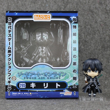 New Character Sword Art Online SAO Kirito face changable Nendoroid 295 Figure Kids Toy Gift 10cm with box