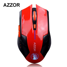 AZZOR Rechargeable Wireless Illuminate Computer Mouse Mice Laser Gaming 1600 DPI 2.4G FPS Gamer Silence Lithium Battery Build-in