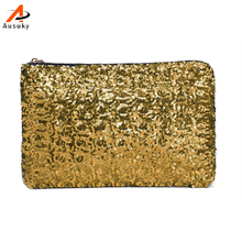 Brand Women Clutch Bag Dazzling Sequins Glitter Sparkling Handbag Evening Party Bag Bolsos Mujer Golden Sliver  Wholesale 45