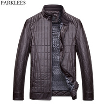 Buy Winter Leather Jacket Men 2017 Motorcycle Mens PU Leather Jackets Coats Casual Slim Fit Velvet Zipper Quilted Jacket Coat 3XL for $33.10 in AliExpress store