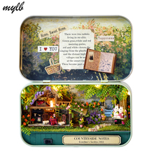 mylb Handmade Furniture Doll House DIY miniature doll house 3D Wooden Dollhouse miniatures Toys for Christmas and birthday gift