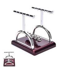 1PCS Newtons Cradle Steel Balance Balls Physics Science Teaching Pendulum School Educational Supplies Desk Accessory Toy Gift(China)