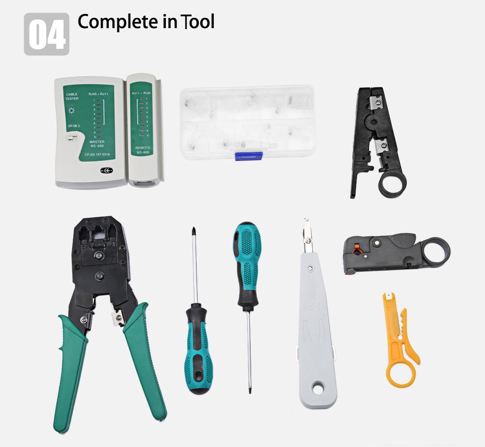 11 in 1 Generic Network Maintenance Computer Repair Kit Tool Bag