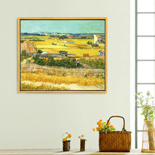 hand painted oil painting copy of  Van Gogh 's Harvest wall pictures for living room bed room  wall art canvas