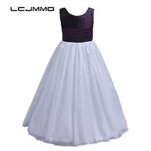 LCJMMO High Quality Chiffon Girl Dress Kids Wedding Bridesmaid Children Dresses Summer 2017 Party Princess Costume Girls Clothes