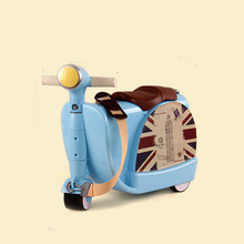 New Fashion Style Cute toy motorcycle shape Kids Children Rolling Luggage Boy and Girl Trunk Trolley case Travel Box suitcase