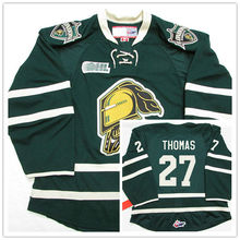 London Knights #27 Robert Thomas Green Hockey Jersey Embroidery Stitched Customize any number and name Jerseys(China)