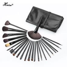 Halu mini 24 pcs Premiuim Professional Makeup Brush Set Soft Nylon Hair Artist Make Up Brush Kit Eye Blusher Set